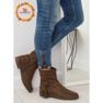 Brune kvinders sko 4169 Khaki 1
