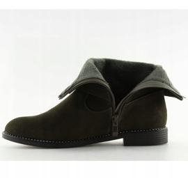 Platte grønne sko MB188-266 Grøn 2
