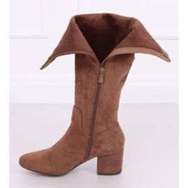 Brun høje hæle YQ218P Camel 4