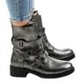 Grå kvinder støvler med HQ1588 spænder 2