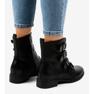 Sorte kvinders støvler med S120 spænder 2