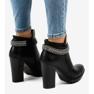 Sorte støvler på stolpen med en kæde 13X992-51A billede 3