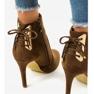 Brune ankelstøvler med LBS2551 ruskindshæl 4
