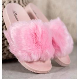Bona Tøfler Med Fur pink 2