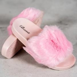 Bona Tøfler Med Fur pink 3