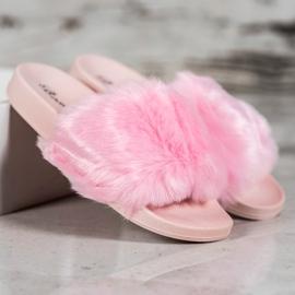 Bona Tøfler Med Fur pink 1