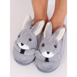 Grå hjemmesko kaniner MA17 Grå 2