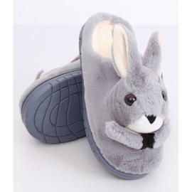 Grå hjemmesko kaniner MA17 Grå 4