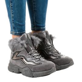 Isolerede grå sneakers LS-2062 1