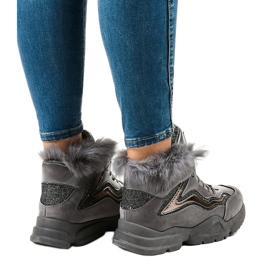 Isolerede grå sneakers LS-2062 4