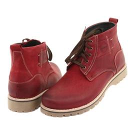 Riko 888 snøre vinterstøvler rød 4