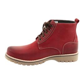 Riko 888 snøre vinterstøvler rød 2