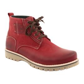 Riko 888 snøre vinterstøvler rød 1