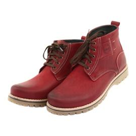 Riko 888 snøre vinterstøvler rød 3