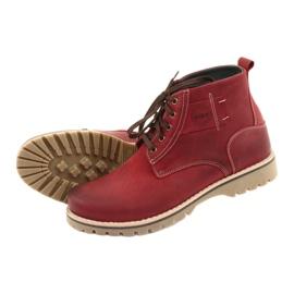 Riko 888 snøre vinterstøvler rød 5