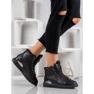 SHELOVET Snørestøvler med glitter sort 5