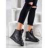 SHELOVET Snørestøvler med glitter sort 1