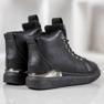 SHELOVET Snørestøvler med glitter sort 2