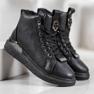 SHELOVET Snørestøvler med glitter sort 3