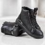 SHELOVET Snørestøvler med glitter sort 4