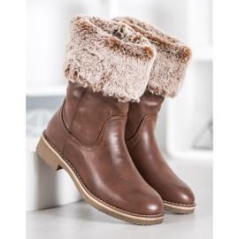 SDS Støvler med en roll-up overdel brun 7