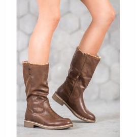 SDS Støvler med en roll-up overdel brun 1