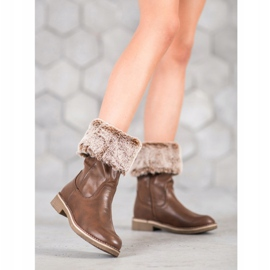 SDS Støvler med en roll-up overdel brun 2