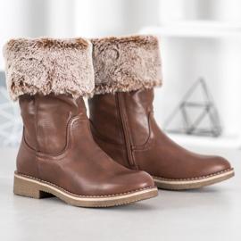 SDS Støvler med en roll-up overdel brun 5