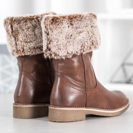 SDS Støvler med en roll-up overdel brun 6