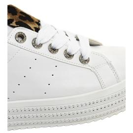 Hvide leopard sneakers på M-071 platformen 4