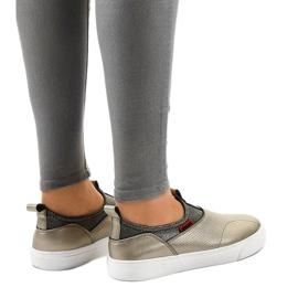 Guld sneakers med A-92 elastik 4