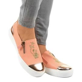 Pink klassiske slip-on sneakers A-89 1