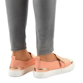 Pink klassiske slip-on sneakers A-89 4