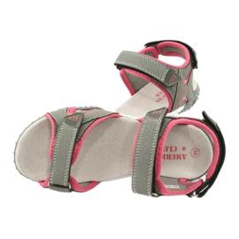 American Club RL26 / 20 grå / fersken sandaler 4