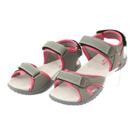 American Club RL26 / 20 grå / fersken sandaler 2