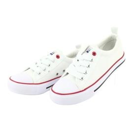 American Club Hvide amerikanske LH25 Knotede sneakers 4