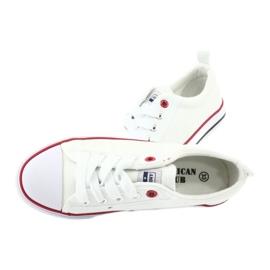 American Club Hvide amerikanske LH25 Knotede sneakers 6