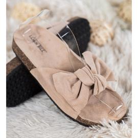 SHELOVET Suede Flip-flops Med Bow brun 1