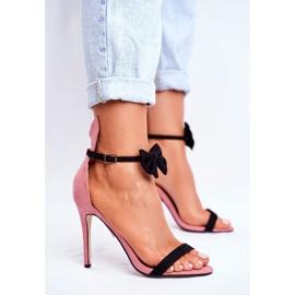 SEA Kvinders sandaler på højhæl kaninørne lyserød honninghare pink 2