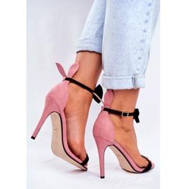 SEA Kvinders sandaler på højhæl kaninørne lyserød honninghare pink 3
