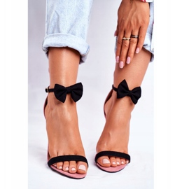 SEA Kvinders sandaler på højhæl kaninørne lyserød honninghare pink 4