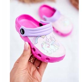 Børnes tøfler Skum Crocs lyserøde ponyer pink 2