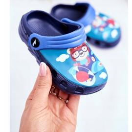 Børnes tøfler skum Crocs marineblå Bamse Pilot SuperFly 2