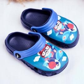 Børnes tøfler skum Crocs marineblå Bamse Pilot SuperFly 1