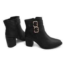 Støvler på hæl F026 Sort 3