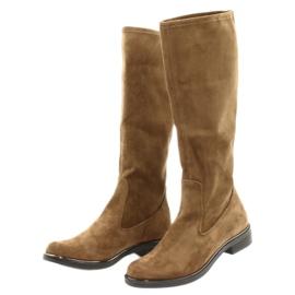 Dame Caprice 25512 cognac stretchstøvler brun 2