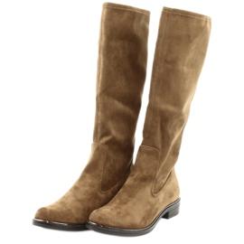 Dame Caprice 25512 cognac stretchstøvler brun 3