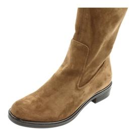 Dame Caprice 25512 cognac stretchstøvler brun 4