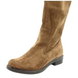 Dame Caprice 25512 cognac stretchstøvler brun 5