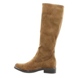 Dame Caprice 25512 cognac stretchstøvler brun 1